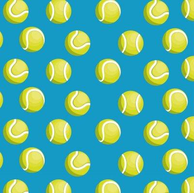 Poster Bälle Tennis nahtlose Muster Design Vektor-Illustration eps 10