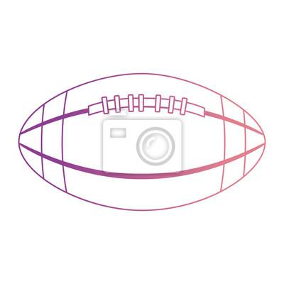 Poster Ballon-amerikanischer Fußballikonenvektor-Illustrationsdesign