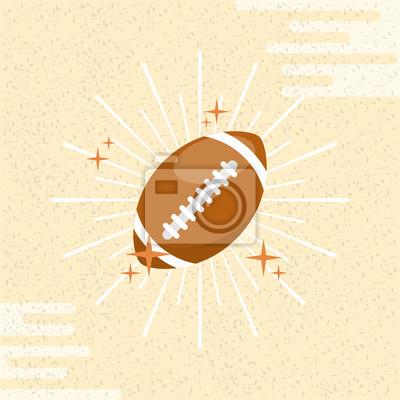 Poster Ballsport-amerikanischer Fußball Sunburstfarbhintergrund-vektorabbildung