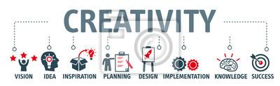 Poster Banner Kreativität Konzept Vektor-Illustration