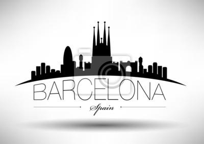 Barcelona City Typografie-Entwurf