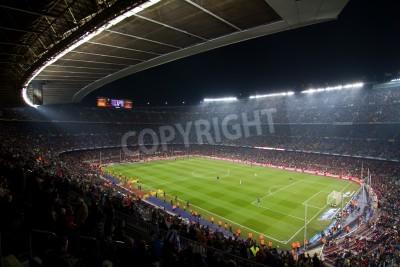 Poster BARCELONA, Spanien - 13. Dezember 2010: Panorama-Blick auf das Camp Nou, dem Stadion von Football Club Barcelona-Team vor dem Spiel FC Barcelona - Real Sociedad, Endstand 5-0.