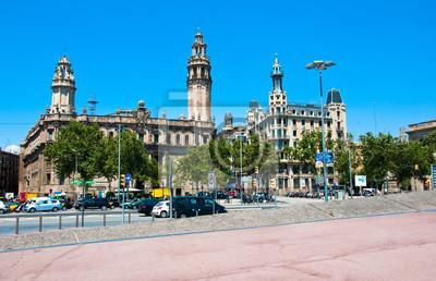 Barcelona Straße und der Telegraph.