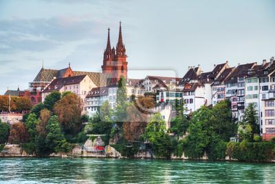 Basel Stadtbild in der Schweiz