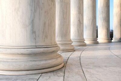 Poster Basis von ionischen Säulen am Jefferson Memorial in Washington DC