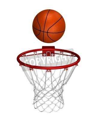Poster Basket Ball über den Ring