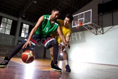 Poster Basketbal Spieler im Spiel