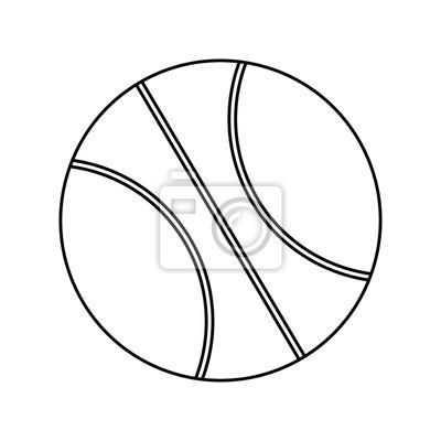 Poster basketball balloon sport icon vector illustration design