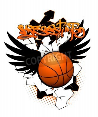 Poster Basketball Bild Graffiti