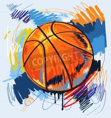 Poster Basketball-Design Farbe Hintergrund