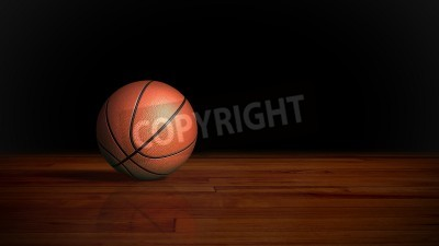 Poster basketball on the wood floor graphic background