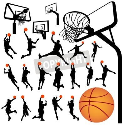 Poster Basketball und Rückenbrett Vektor