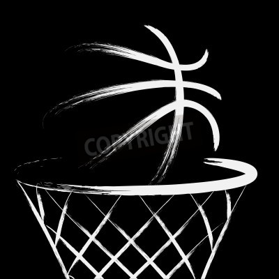 Poster Basketball, vector