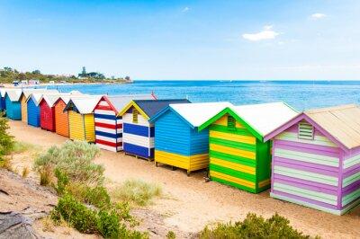 Poster Bathing boxes at Brighton Beach, Australia