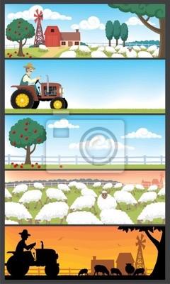 Bauernhof Landschaften