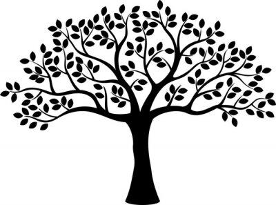 Poster Baum-Silhouette