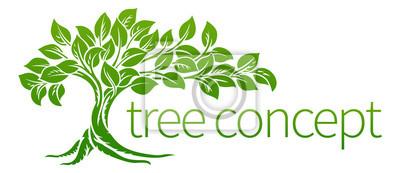 Poster Baum-Symbol-Konzept