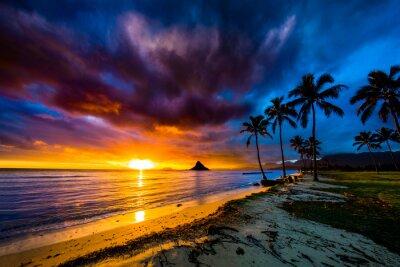 Poster Beautiful sunrise at Chinaman's Hat on Oahu