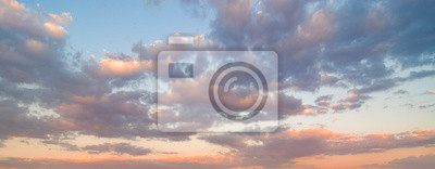 Poster Beautiful sunset sky. Nature sky backgrounds.