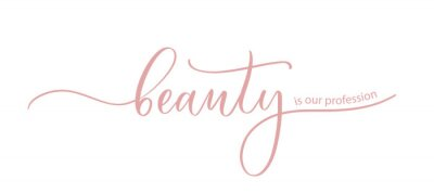 Poster Beauty is our profession - the slogan for a beauty salon, hand calligraphy.