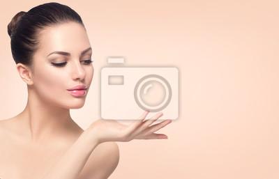 Poster Beauty spa Frau mit perfekter Haut