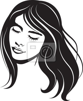 Poster beauty vector face girl portrait