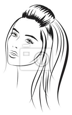 Poster beauty vector face girl portrait