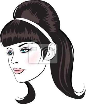 Poster Beauty vector Gesicht Frau Porträt
