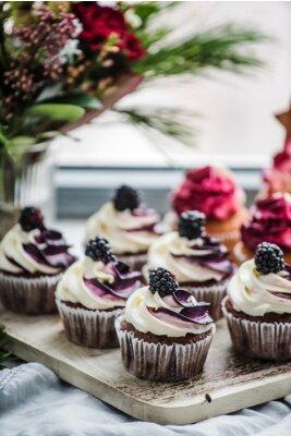 Poster Beeren Cupcakes