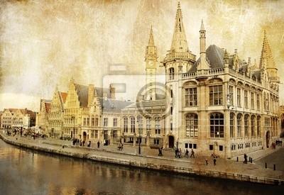 Belgium - Gent - picture in retro style