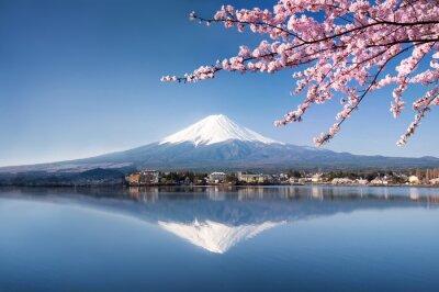 Poster Berg Fuji in Japan Kawaguchiko