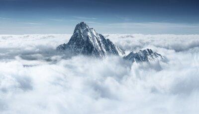 Poster Berg in den Wolken