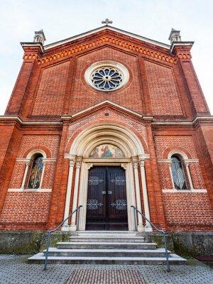 Bergamo, Italy, February 16, 2020. Chiesa Valdese church in the lower city of Bergamo (Citta Bassa).