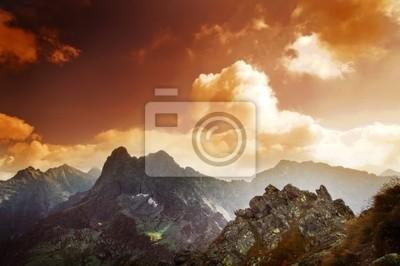 Berge Sonnenuntergang Landschaft