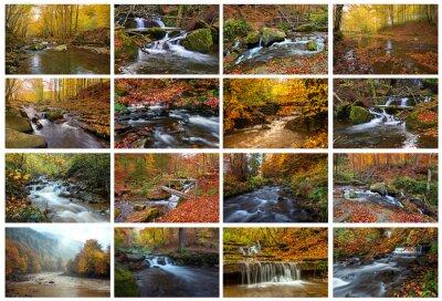 Bergfluss im Herbst