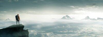 Poster Bergsteiger - Gipfel - Freiheit
