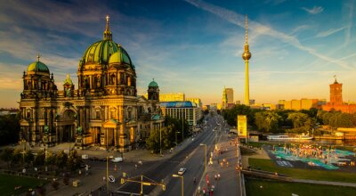 Poster Berlin - Blick auf die Stadt