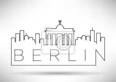 Berlin City Line Silhouette typografische Gestaltung