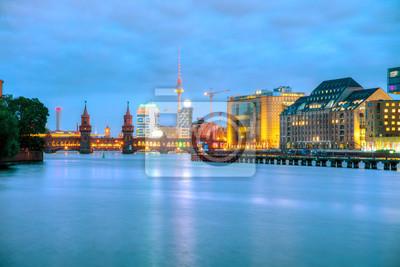 Berlin cityscape with Oberbaum bridge