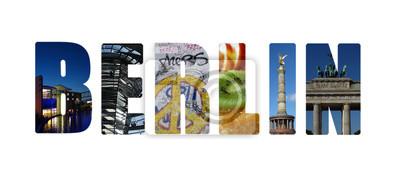Berlin Collage auf weiß