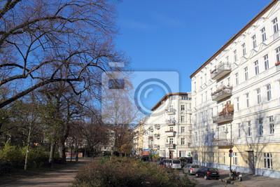 Berlin Helmholtzplatz Wandposter Poster Erker Mehrfamilienhaus