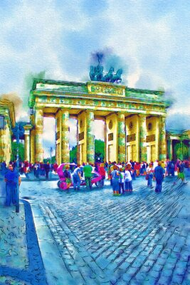 Poster Berlin-Kunstabbildung