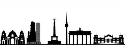 Poster berlin Skyline der Stadt