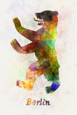Poster Berlin Symbol in Aquarell