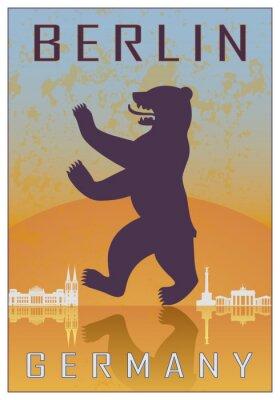 Poster Berlin vintage poster