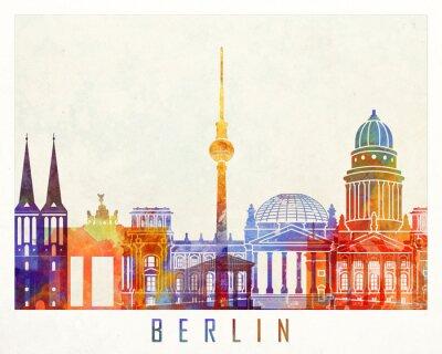 Berlin Wahrzeichen Aquarell Poster