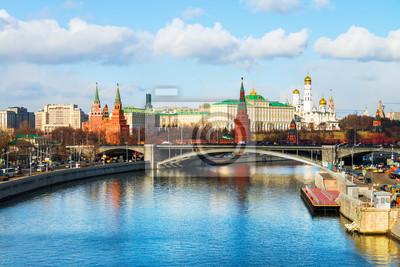 Berühmte Sehenswürdigkeiten der Kreml in Moskau, Russland.
