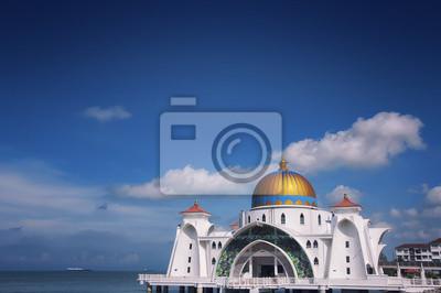 Berühmte Straße von Malakka Moschee in Malaysia