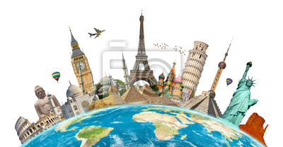 Poster Berühmtesten Denkmäler der Welt