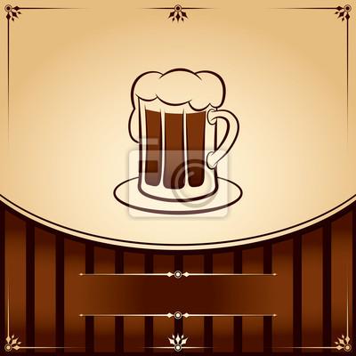 Bier Humpen. Grafik Illustration mit Platz für Text